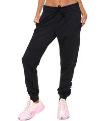 pantalón  negro  adidas originals  w e lin pant