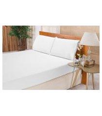 jogo de cama lençol 180 fios solteiro elegance 02 peças - branco