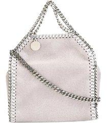 stella mccartney light grey falabella tiny tote bag