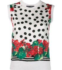 dolce & gabbana blusa com estampa de tricô - branco