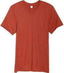 alternative apparel organic cotton crew neck t-shirt red clay
