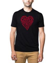 men's premium blend word art crazy little thing called love t-shirt