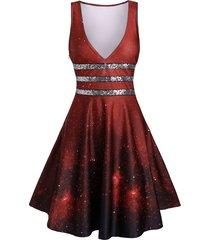 zippered high waist plunging neck dress