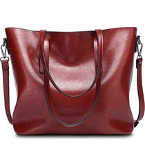 donna vintage tote bag borsa a spalla in pelle pu vernicata con granda capacità borda a tracolla da shopping