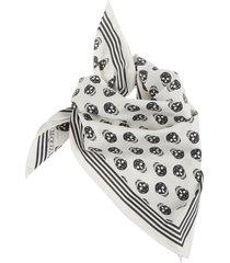 alexander mcqueen skull biker scarf