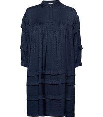 nubina dress knälång klänning blå nümph
