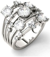 moissanite galaxy fashion ring (3-1/8 ct. t.w. diamond equivalent) in 14k white gold