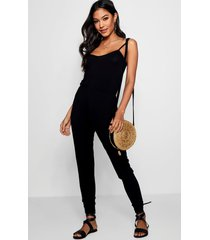 basic cami jumpsuit, black
