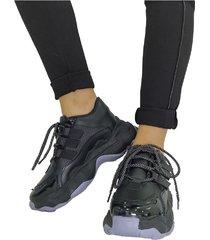 sneakers black lorena herrera