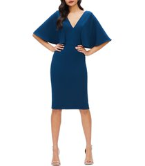 women's dress the population louisa butterfly sleeve cocktail dress, size xx-large - blue