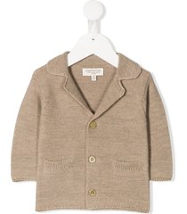 cashmirino spread collar jacket - neutrals