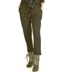 pantalón franja brillo negro bou's