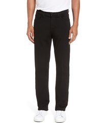 men's 7 for all mankind slimmy luxe sport slim fit jeans, size 38 - black