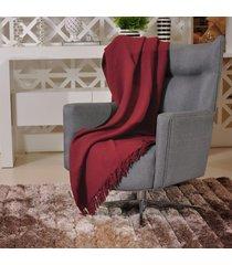 manta capa sofa algodão favo 1,60m x 2,20m bordo - tessi