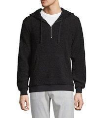 faux shearling half-zip hoodie