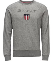 gant shield c-neck sweat sweat-shirt trui grijs gant