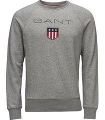 gant shield c-neck sweat sweat-shirt trui grijs gant