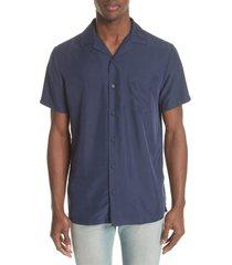 onia vacation shirt, size medium in deep navy at nordstrom