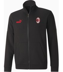 ac milan ftblculture voetbal trainingsjack, rood/zwart, maat xs | puma