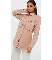 missguided denim shirt with tortoise shell buttons skjortor