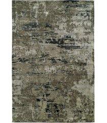 natori lhasa- sandstorm grey rug, silk, size 3 x 5 natori