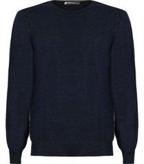 brunello cucinelli blue virgin wool and cashmere sweater