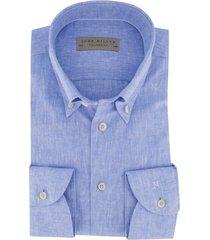 blauw overhemd john miller mouwlengte 7