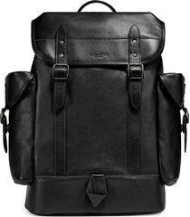 men's coach hitch sport calf leather backpack - black