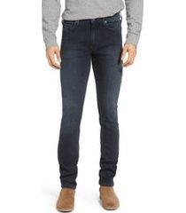 men's big & tall paige transcend - lennox slim fit jeans, size 44 x 33 - blue