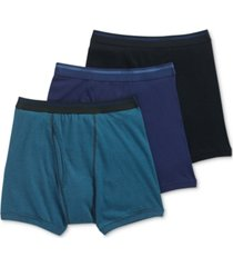 jockey men's 3-pk. cotton boxer briefs
