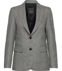 6126 - ginette pointy blazers business blazers grijs sand