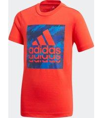camiseta manga curta adidas jb bos graph2 vermelho - vermelho - menino - dafiti