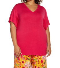 plus size women's zelie for she sedona leisure t-shirt, size 3x - pink (plus size) (nordstrom exclusive)