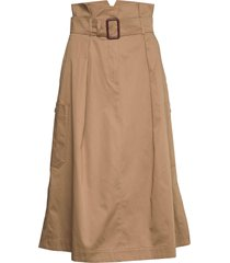 brusson knälång kjol brun weekend max mara