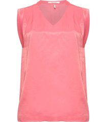 maison scotch 151153 1200 pleated sleeveless top in viscose quality cadillac pink rood