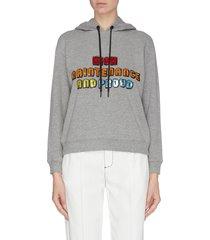 'barron' sequin embellished slogan hoodie