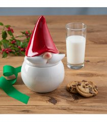 american atelier ceramic red hat gnome canister and cookie jar
