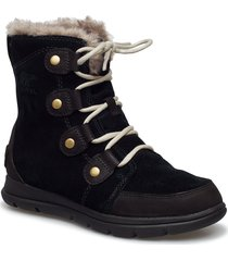 sorel explorer joan shoes boots ankle boots ankle boots flat heel svart sorel