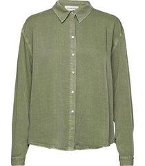dhcosmo shirt overhemd met lange mouwen groen denim hunter