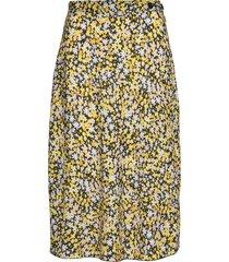 ann-karin knälång kjol gul fall winter spring summer