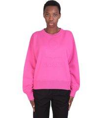 isabel marant mobyli sweatshirt in rose-pink cotton
