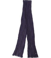saint laurent skinny crepe scarf - blue