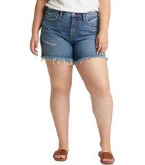silver jeans co. plus size not your boyfriend denim shorts