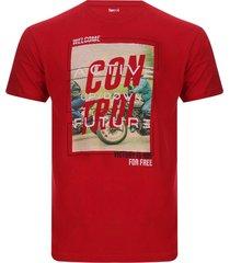 camiseta hombre control color rojo, talla m