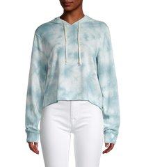 alternative women's tie-dye hoodie - sky blue - size m