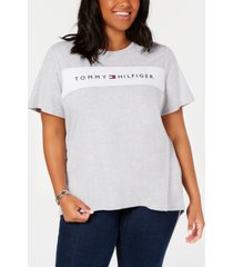 tommy hilfiger sport plus size logo-graphic t-shirt, created for macy's