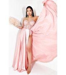 akira one week love strapless maxi dress