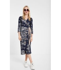 tropical inspiration dress - blue - xl