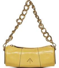 manu atelier xx mini cylinder leather bag