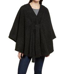 women's halogen tie front cape, size one size - black